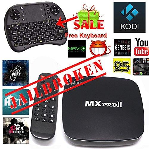 Mansy Genuine KODI(XBMC) MXproII Quad Core Fully Loaded Smart Android TV Box 1080p Hdmi 4k Free Live Sports Movies (Android Xbmc Tv Box compare prices)