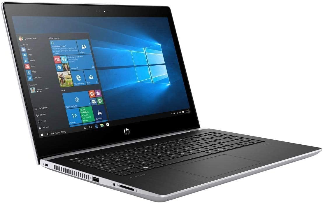 HP High Performance Probook 14in Business Laptop, Intel 8th Gen i5-8250U Quad-core, 256GB SSD, 8GB RAM, Windows 10 Pro (Renewed)