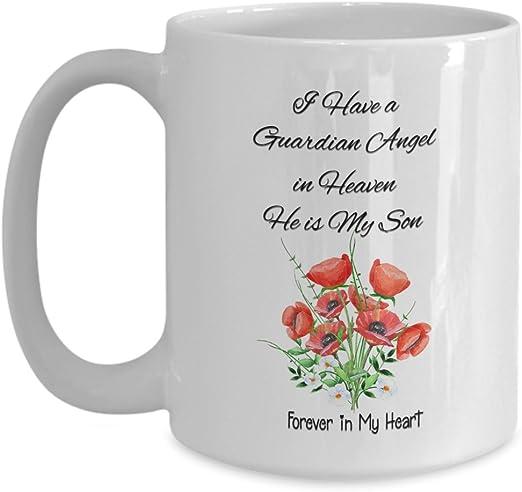 He Is My Son And Angel In Memory Gift Coffee Mug