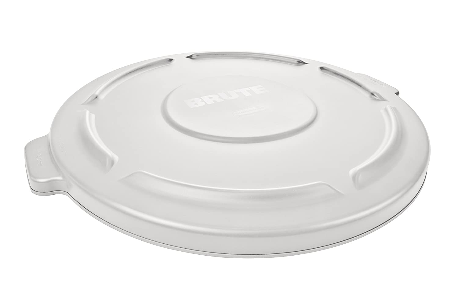 Rubbermaid Commercial FG260900WHT BRUTE Heavy-Duty Round Waste/Utility Container, 10-gallon Lid, White