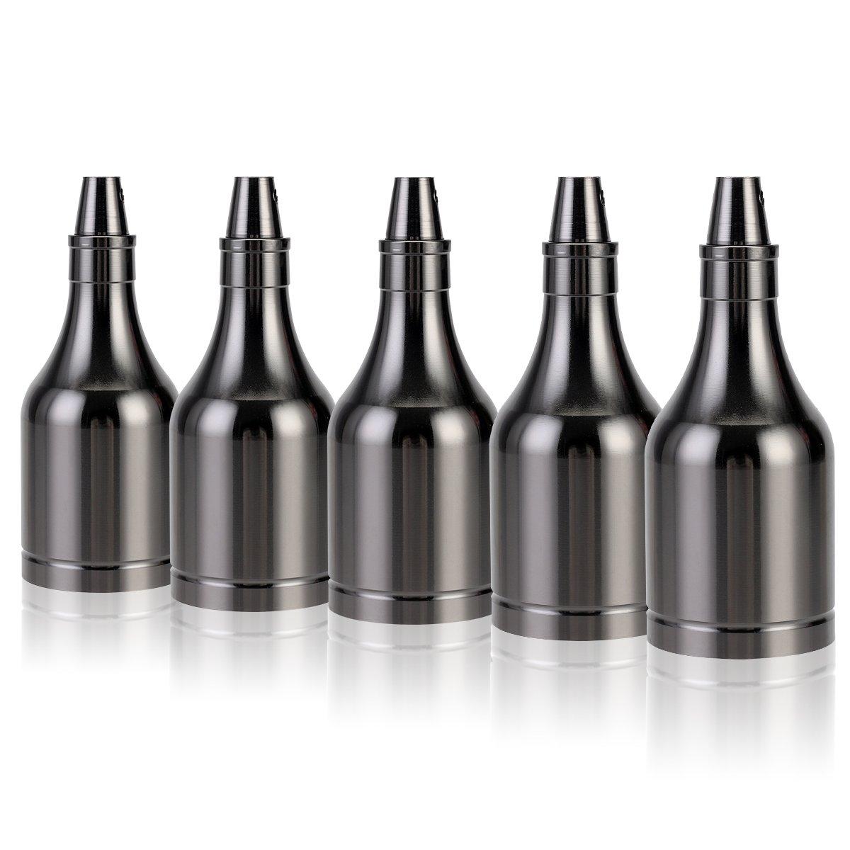 GreenSun LED Lighting 10x Lustre Edison E27 Adaptateur De Douille Vintage Pour Lampoule LED R/étro Cuivre C/éramique /à Lint/érieur 110-220V argent