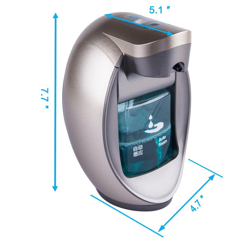 Dispensador de jabón automático de casas por rickyaaron marca - diseño elegante - Sensor Bomba - perfecto para cuarto de baño y cocina - Oro líquido de ...