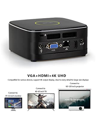 Mini PC Intel core i5-4300U Dual core 1.9G Turbo boost2.9G, Wifi, 4GB RAM, 128 SSD.: Amazon.es: Informática