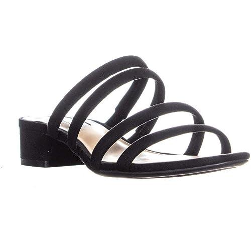 b0a17191c59 INC International Concepts I35 Lamia Slip On Low Block Heel Strappy Sandals