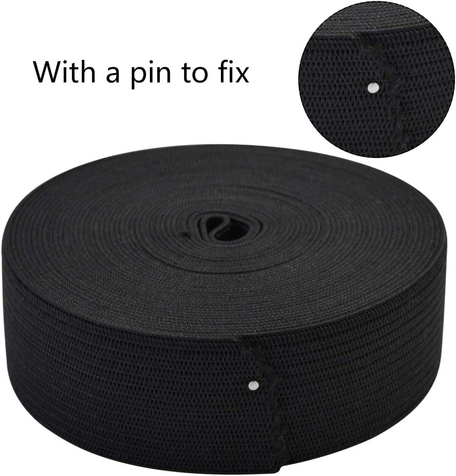 Topbuti 6 Rolls Sewing Stretch Elastic Band Spool 3//5 Inch 1 Inch 1.5 Inch Wide Black White Knit Stretch Cord Elastic Band Roll for Sewing 5.5 Yard//Roll