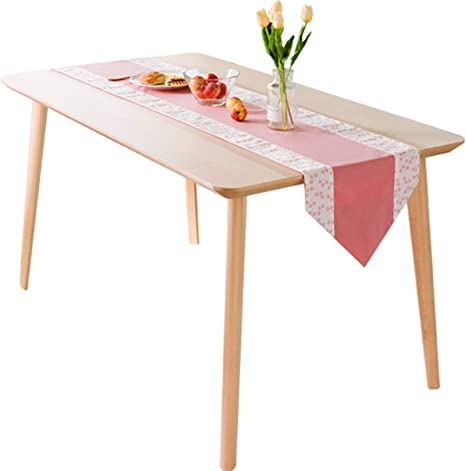 Zhang Table Runners Nordic Small Fresh Pink Table Flag Desktop Decoration Home Decoration Outdoor Wedding Party For Dining Table Decor And Accessories Color 01 Size 35x220cm Home Kitchen