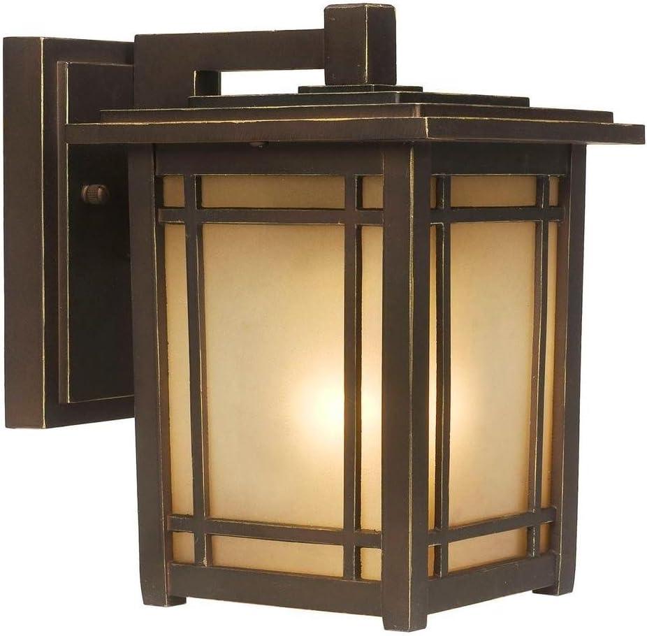 Home Decorators Collection Port Oxford 1 Light Outdoor Oil Rubbed Chestnut Wall Lantern Amazon Com