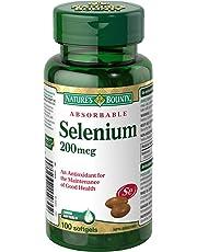 Nature's Bounty Selenium Pills, Supplement, An Antioxidant for the Maintenance of Good Health, 200mcg, 100 Softgels