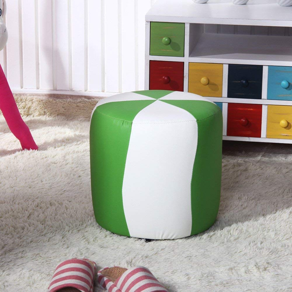 QTQZ Brisk- Fashion Small Round Stool for Shoes Chair Sofa Stool Cottage Children Toys Stool Sofa Stool (Color Optional) (Color: 3)