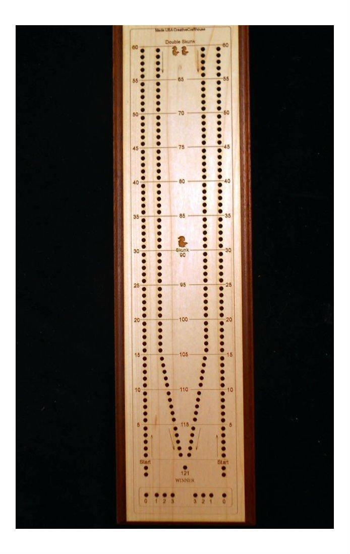 Cribbage – Tournamentロングボードプレミアム – カスタマイズチェリーモデルUSA B07FRXPY8F