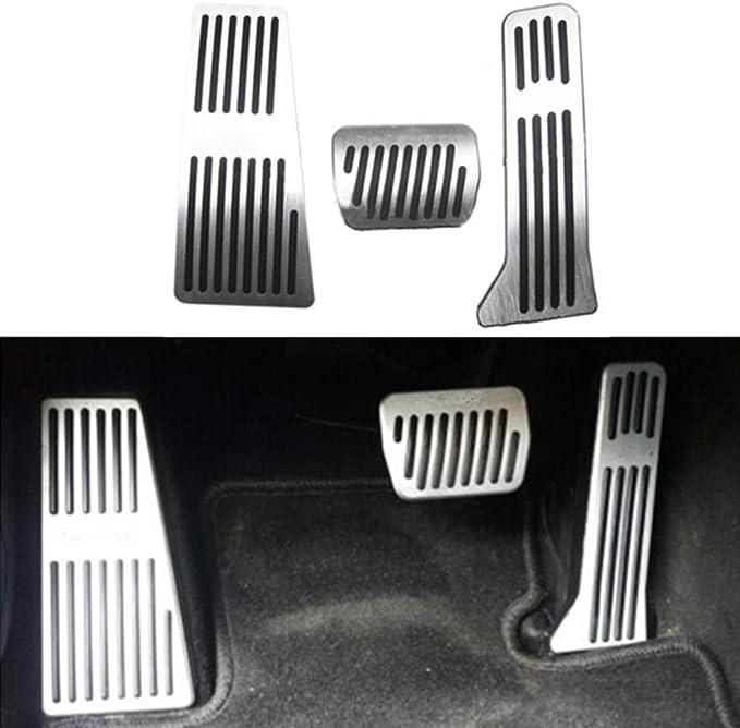 Maite Car Accelerator Fuel Brake Pedal Covers for Mazda 3 6 CX5 2013-2015 Aluminum Alloy Anti-Slip Rubber Footrest Pedals No Drill