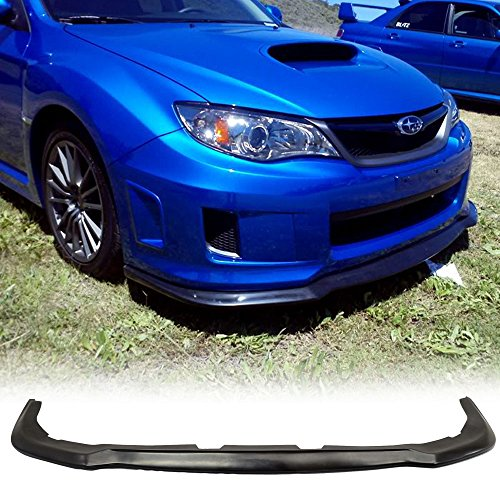Front Bumper Lip Fits 2011-2014 Subaru Impreza WRX STI Wagon And Sedans | HD Style PU Black by IKON ()