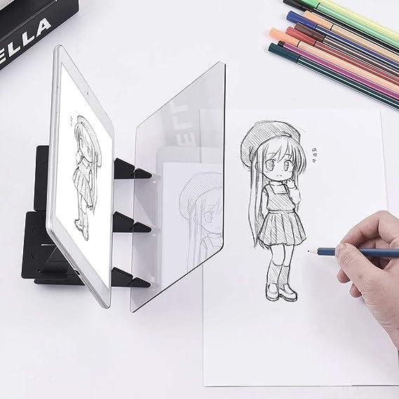 Neborn - Proyector de Dibujo óptico para niños, para Pintar, trazar, Dibujar, Escritorio, Juguete, Pintar, Herramientas GIF DIY