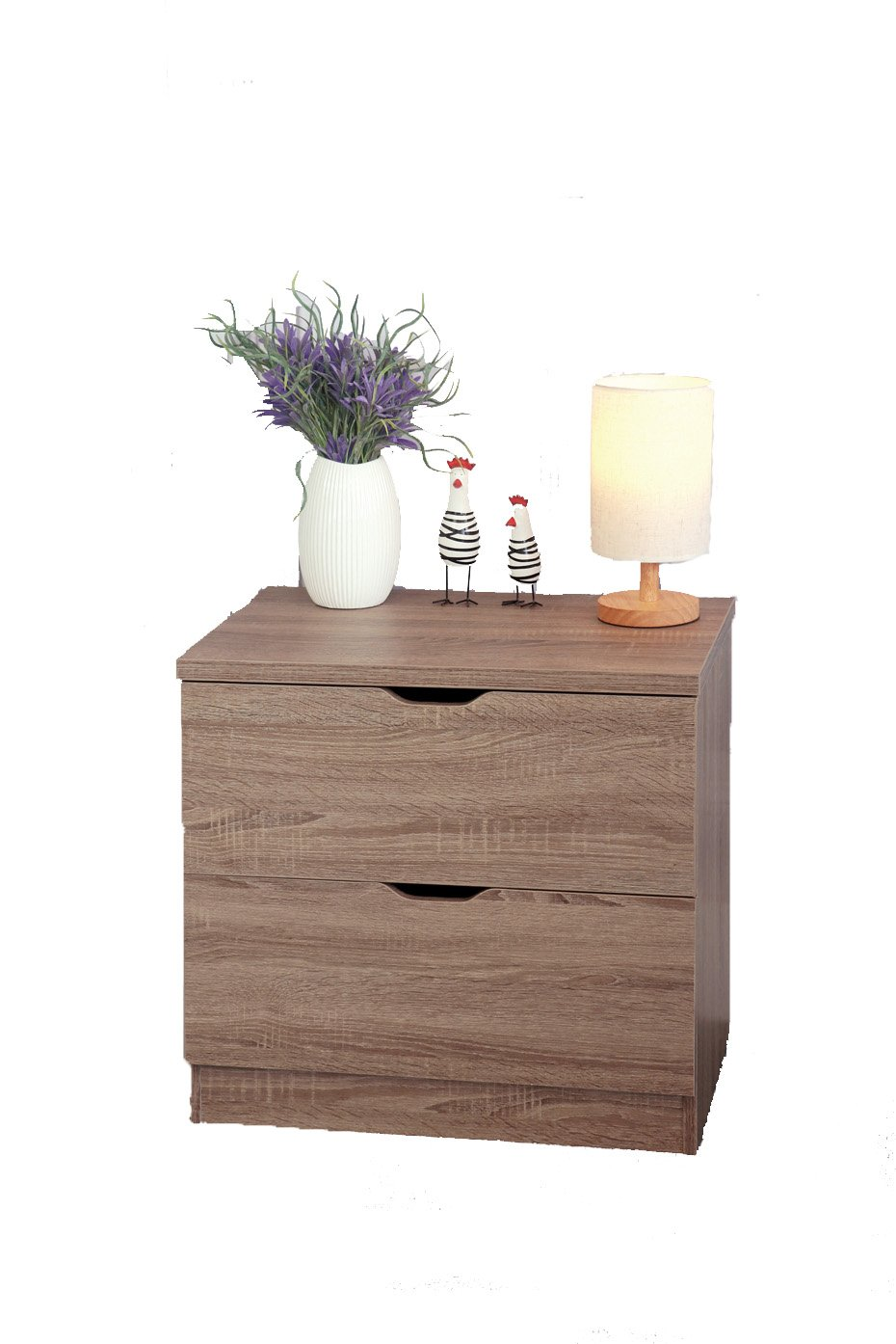 Smart home Eltra K Series 2 Drawers Chest Dresser (2 Drawers, Dark Taupe)