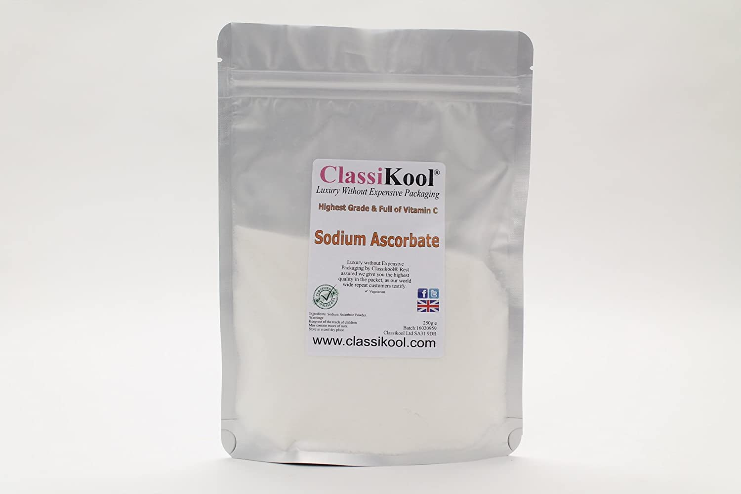 SIMPLY HEALTHY SODIUM ASCORBATE 100g VITAMIN C PHARMACEUTICAL GRADE