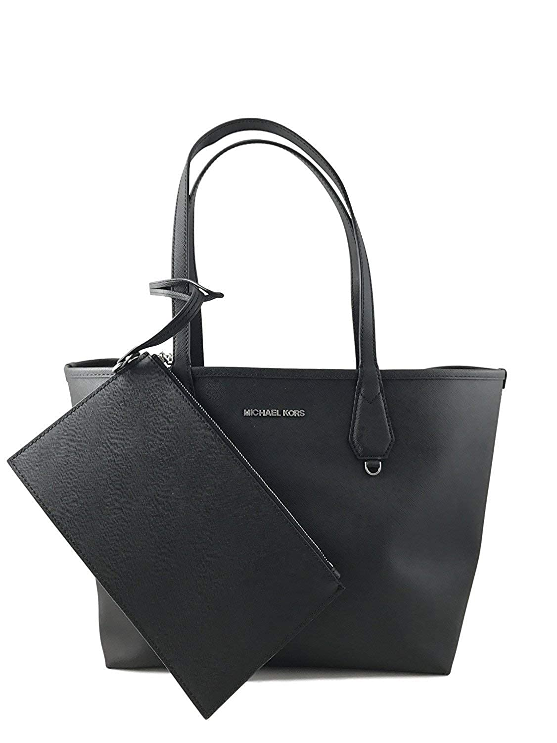 9b0bd5af Amazon.com: Michael Kors Candy LG Reversible PVC Tote Bag Black/Pearl Grey:  Shoes