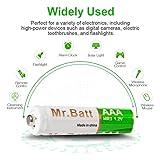 Rechargeable AAA Batteries, Mr.Batt NiMH Low