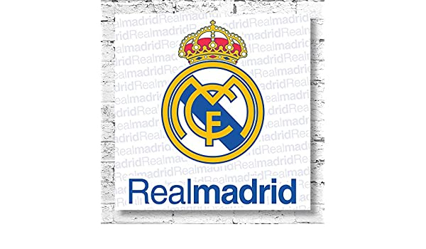 Logo del Real Madrid tamaño grande lienzo decorativo. Classic Club ...