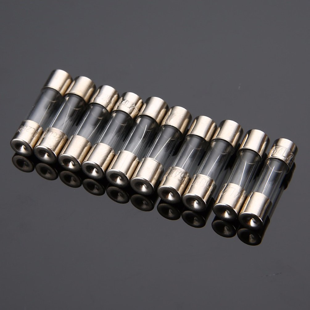 F0.5A ZUPAYIPA Pack of 10 pcs 500mA F0.5AL Fast-Blow Fuse 0.5A ...