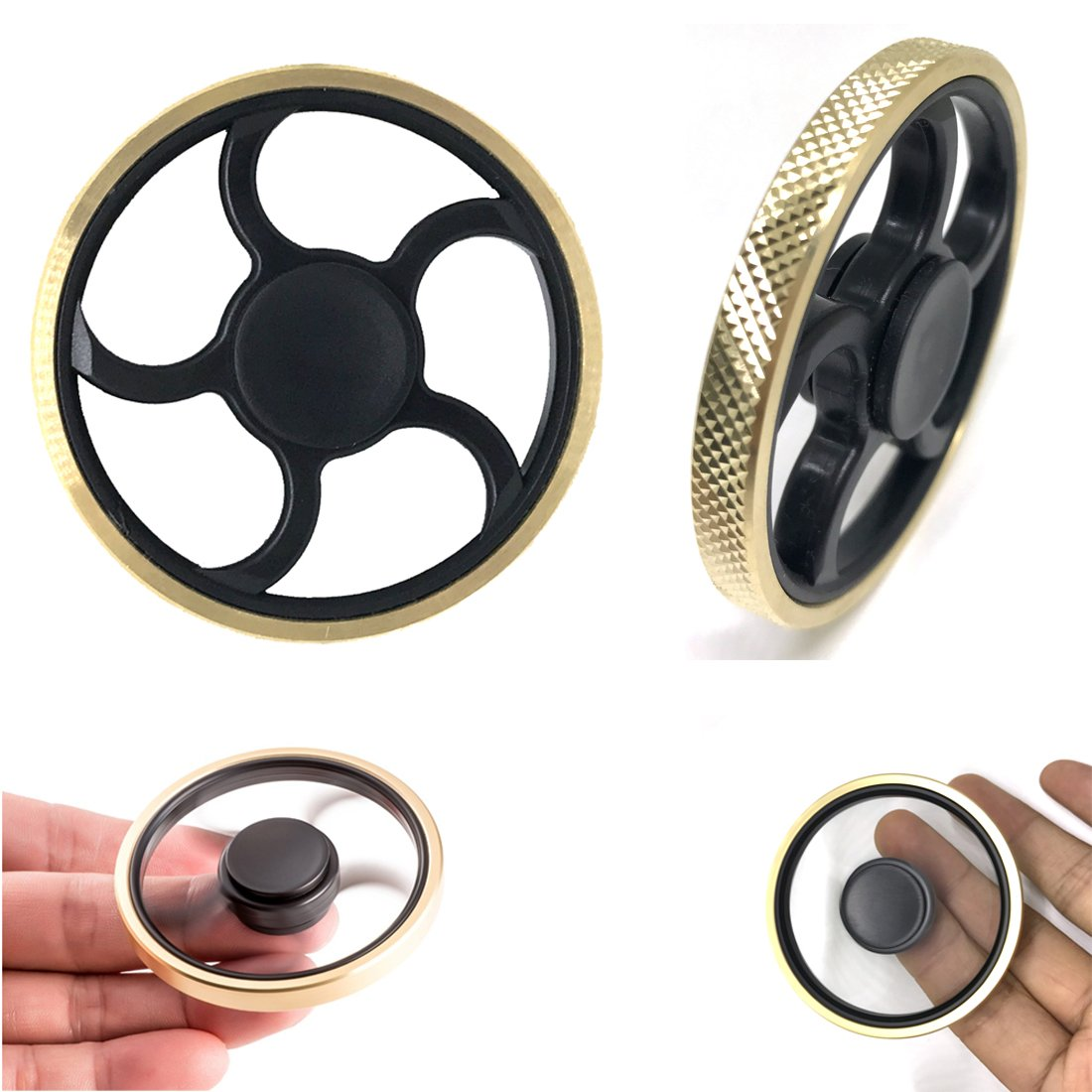 Echodream Fidget Hand Spinners Golden Round Frame EDC Toys with Great Bearing Metal Material High Speed up To 4 Mins Best for ADD ADHD Killing Time(Sweet Dream)