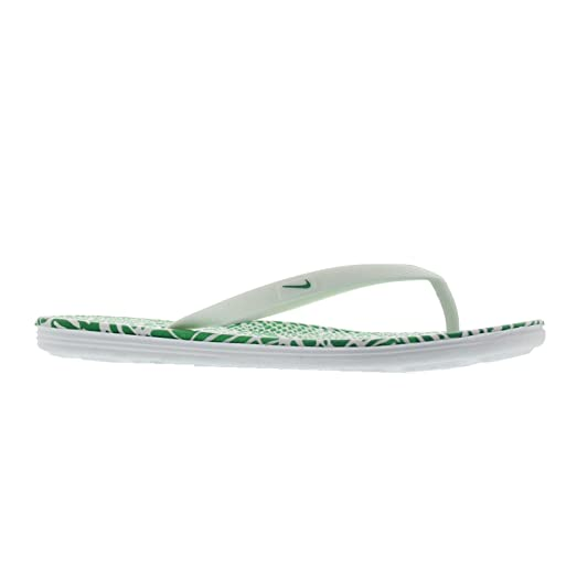NIKE Womens Wmns Solarsoft Thong 2 Print WhiteSpring Leaf