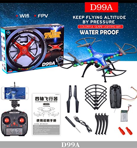 WensLTD Gift ! SHENGKAI D99A RC Quadcopter Drone WIFI FPV 2MP Camera 2.4G 4CH 6Axis Waterproof by WensLTD