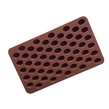 Romote 55 Cavidad mini granos de café chocolate caramelo de azúcar del molde del molde de