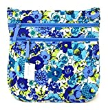 Vera Bradley Triple Zip Hipster Cross-body Bag (One Size, Blueberry Blooms with Blue Interior)
