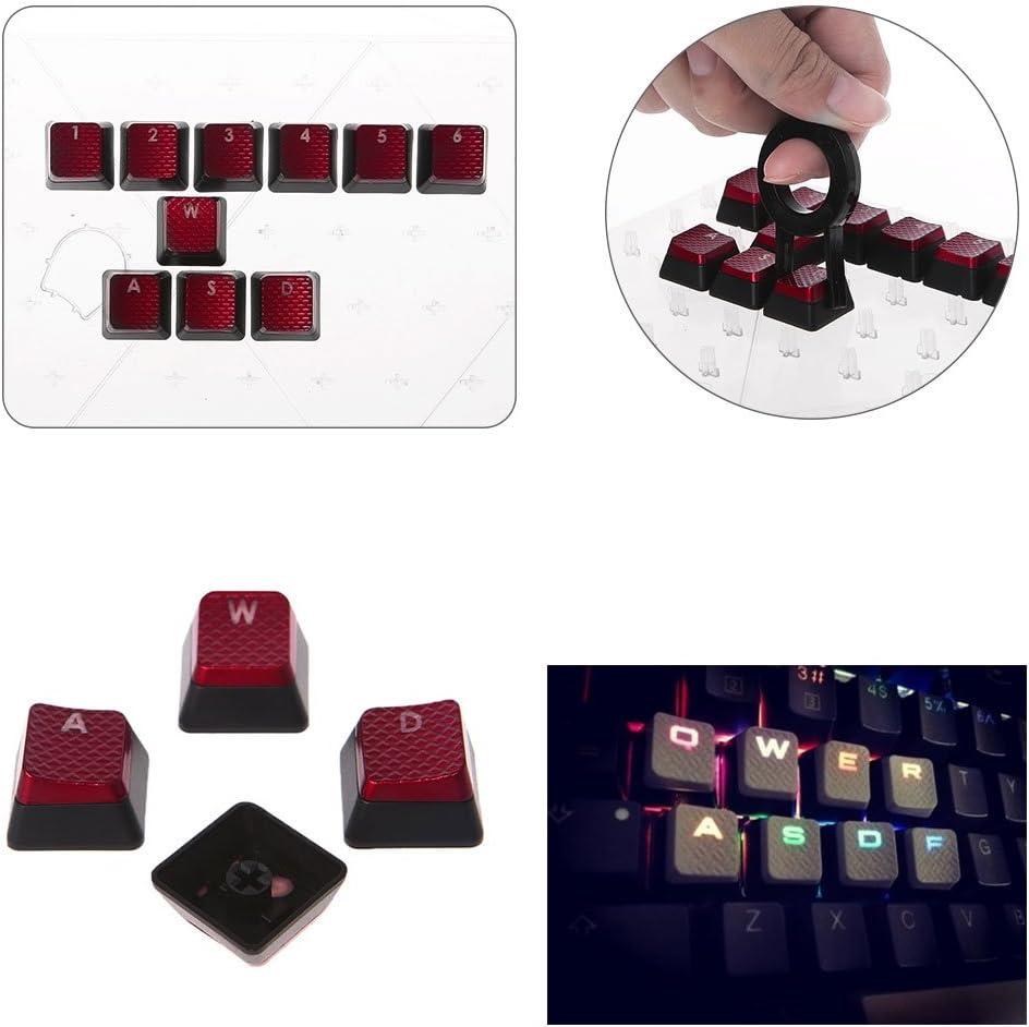10Pcs//Pack Keycaps for Corsair K70 K65 K95 G710 RGB STRAFE Mechanical Keyboard