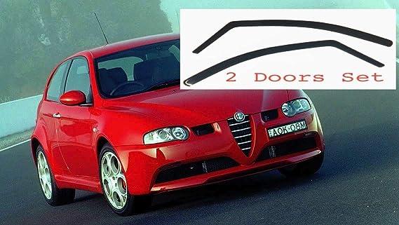 2x Windabweiser Kompatibel Mit Alfa Romeo 147 3 Türer 2000 2001 2002 2003 2004 2005 2006 2007 2008 2009 2010 Premium Qualität Acrylglas Pmma Regenabweiser Abweiser Auto