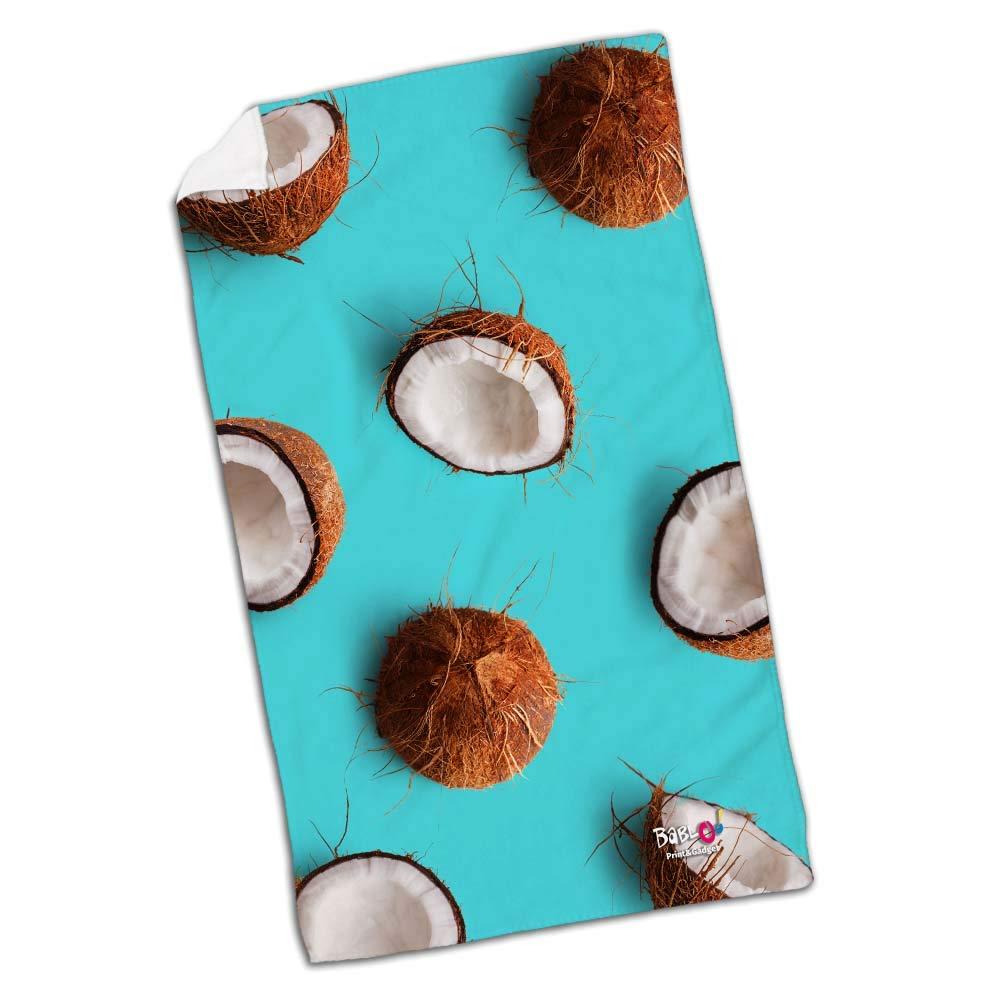 Babloo Telo Mare da Spiaggia Coconut Sfondo Azzurro 70x100