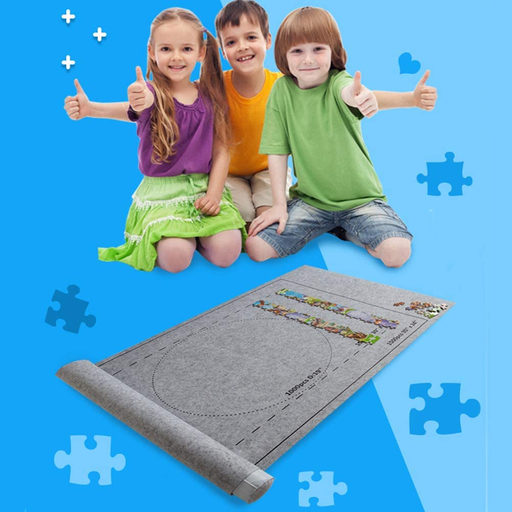 with Travel Storage Bag Jigsaw Roll Felt Mat Play Mat Puzzles Blanket for Up to 1500 Pieces Puzzles Fangteke Portable Puzzle Mat