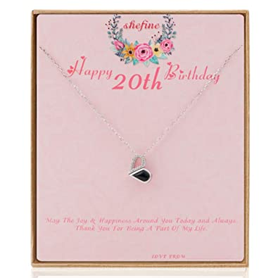 Amazon Shefine 20th Birthday Gifts For Women Girls Deformable Happy Heart Necklace Life Long Love Presents Her 1999 Gift Ideas