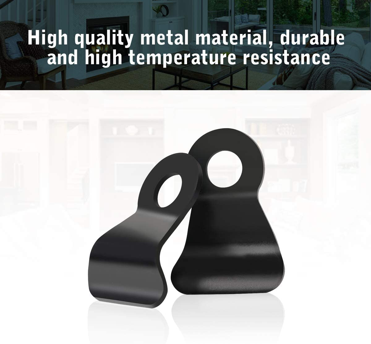 Stove Glass Clips,AIEVE 8 PCS Metal Stove Glass Retaining Clips Multi Fuel Wood Burning Stove Spare Parts for Hold Your Stove Glass Tightly