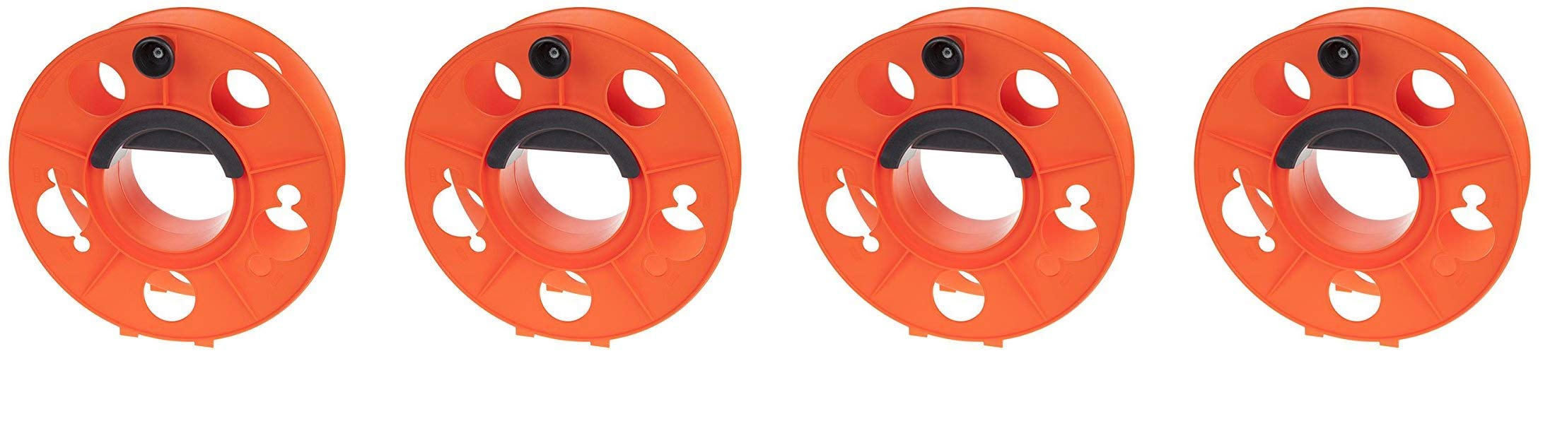 Bayco KW-130 Cord Storage Reel with Center Spin Handle, 150-Feet (4-Pack, Orange)