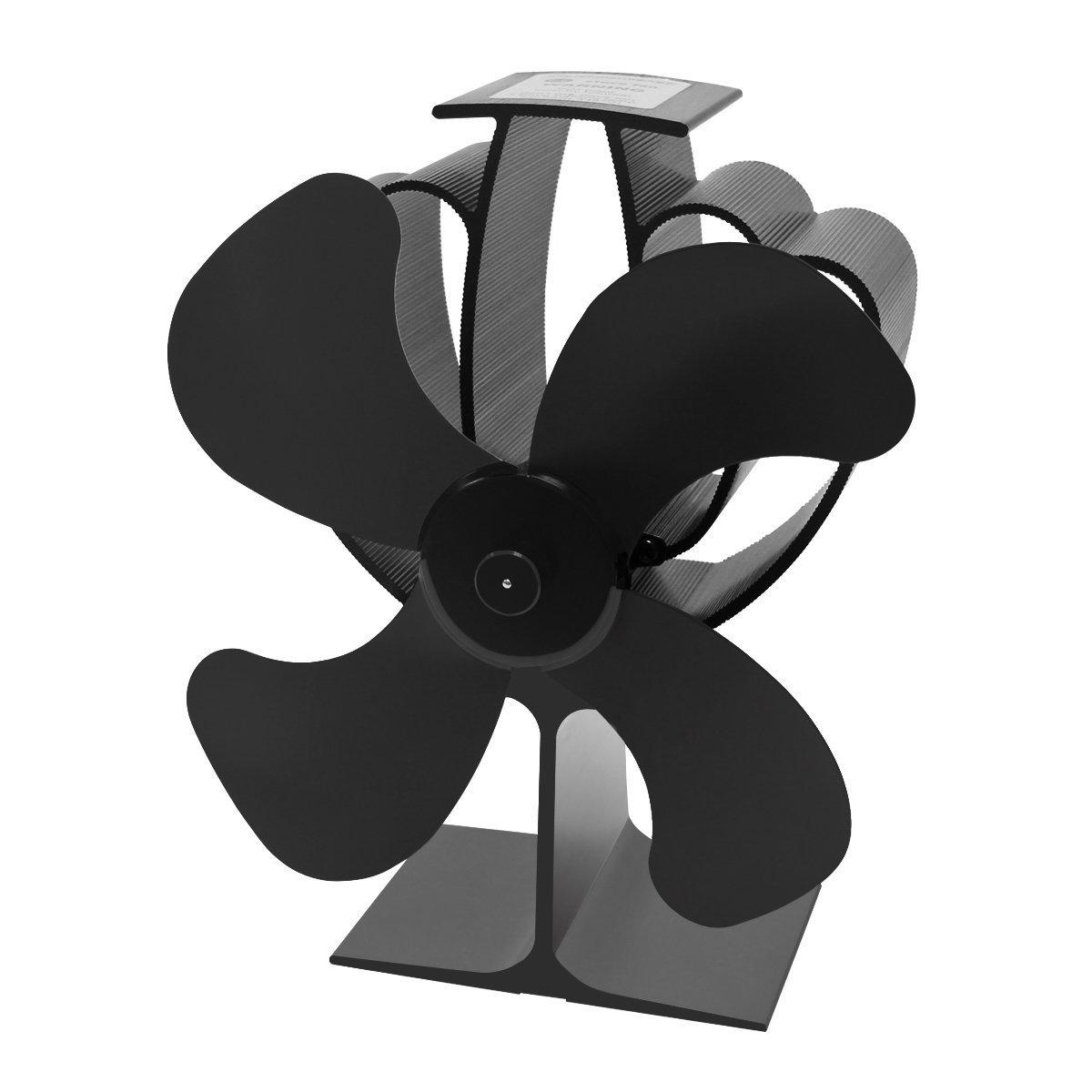 Signstek - Chimeneas pequeña 4 hoja - madera con calor ventilador estufa de leña de registro - respetuoso con el medio ambiente: Amazon.es: Bricolaje y ...