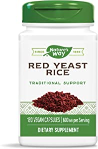 Nature's Way Premium Quality Red Yeast Rice 600 mg, 120 Vcaps