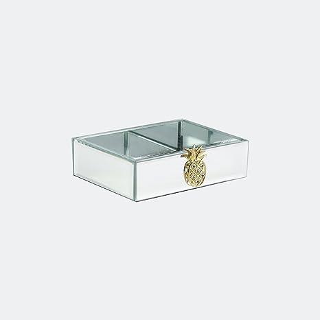 Amazon.com: American Atelier piña broche jabonera de vidrio ...