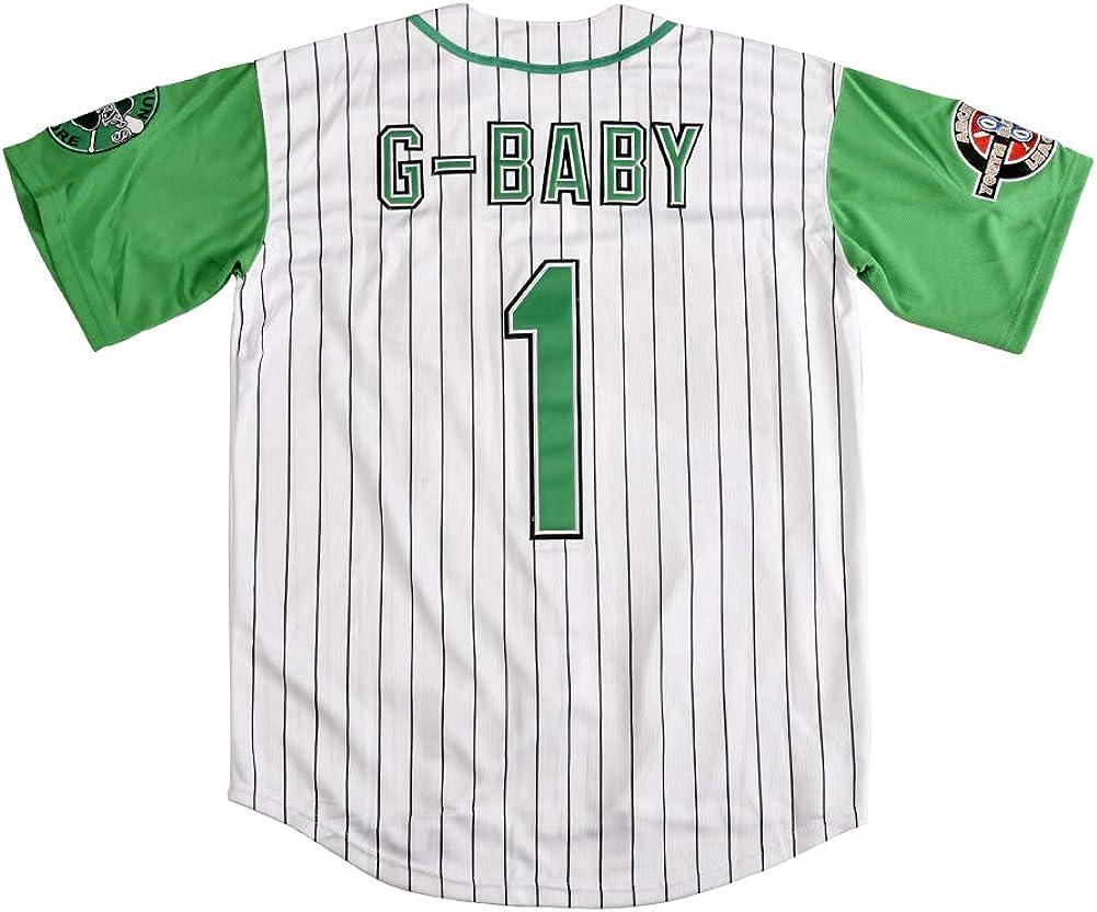 Kekambas Mens #1 G-Baby Jarius Evans Hardball Movie Baseball Jersey
