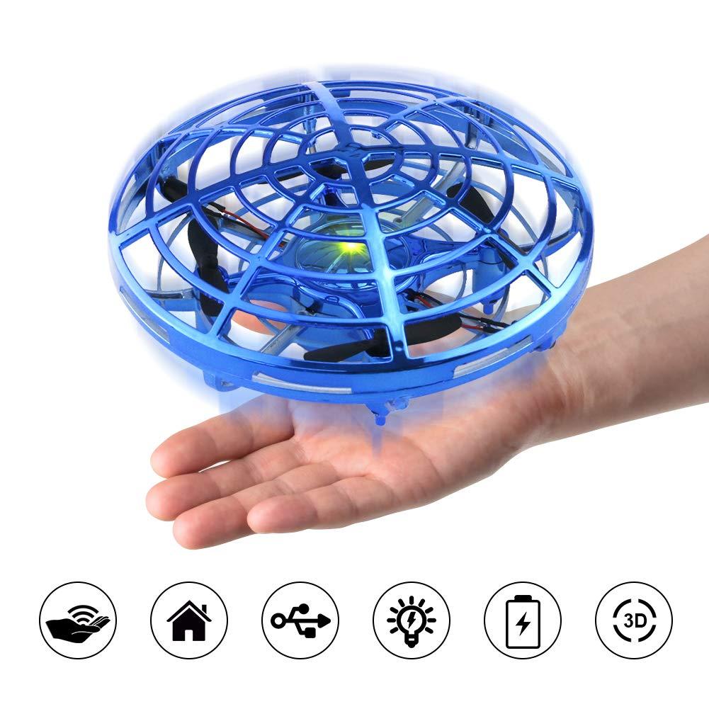ionlyou Kinder Drohne Mini UFO Infraroterkennung Steuerung Geschenk kleine Junge Mädchen ab 3 Jahren Alt, Indoor Drohne (Blau) Xiaokesong