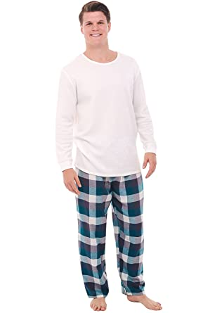 Del Rossa Men's Flannel Pajamas, Knit Top Cotton Pj Set at Amazon ...