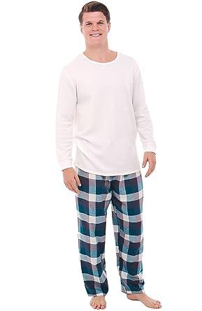 Del Rossa Men's Flannel Pajamas, Knit Top Cotton Pj Set at Amazon ...