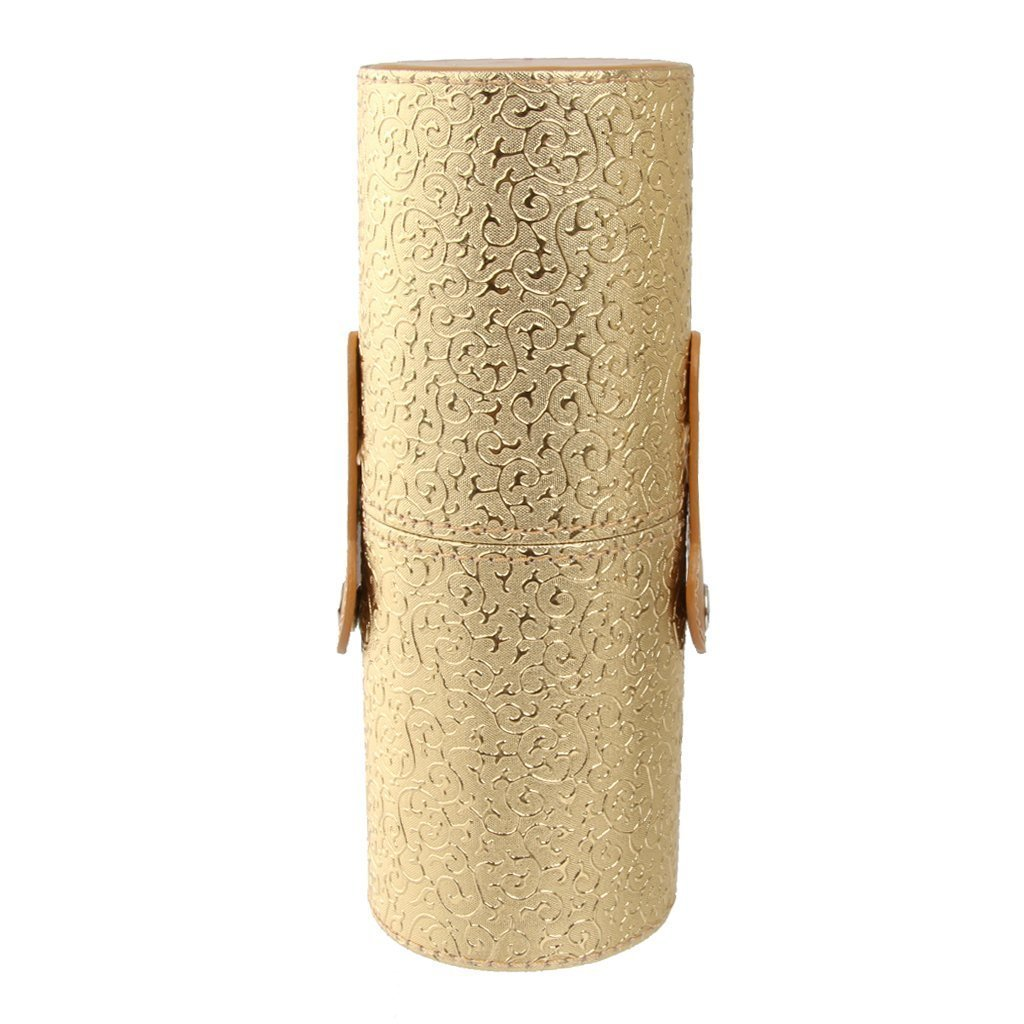 welim welim Tubo de almacenamiento tubo de almacenamiento de cepillo caso cepillo de aseo Organizador De Maquillaje y Cosmé ticos Maquillaje Cepillo Soporte para cepillo o algo má s oro