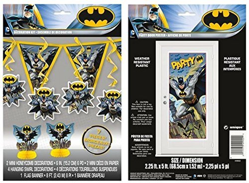 Batman 7 pc Decoration Kit and Large Door Poster by BT -