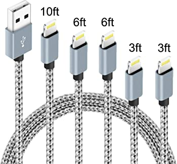 5-Pack IDiSON MFi Certified Braided Nylon Fast Charger Lightning Cable