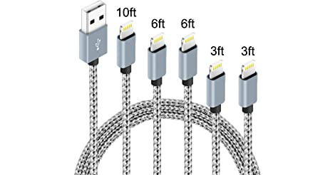 IDiSON (3ft 3ft 6ft 6ft 10ft) Nylon Fast Lightning Charger Cable only $9.99