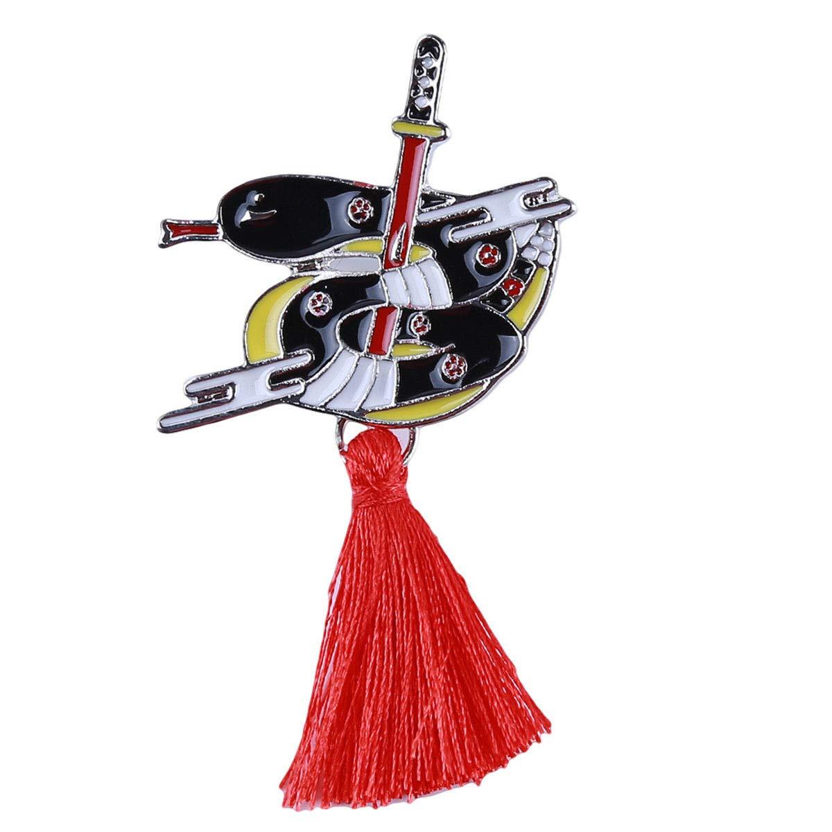 Amazon.com: Beiswe Japanese Kabuki Style Brooches Pin ...