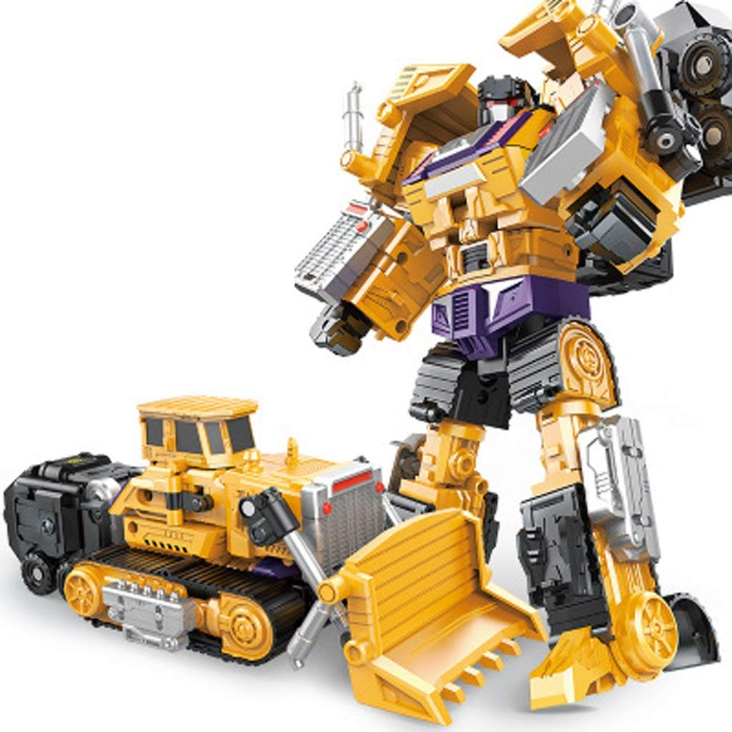 YSDHE Kinder Spielzeug Verformung Technik Fahrzeug Transformers Serie Robot Model Six in Einem Set Toy Model Geschenk (Farbe   Six-in-one Set B) B