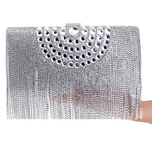 Argent Silver Silver Hungrybubble Femme pour Pochette FxzBntaq
