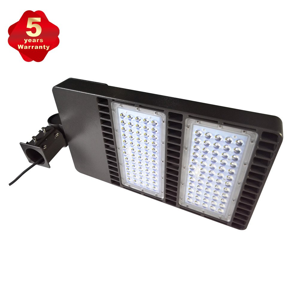 LED Parking Lot Lights 300W Shoebox light for Round Pole in Street 33000lm AC90-265V for Path Garden and Outdoor Places Area LIght IP65 Waterproof (300W)